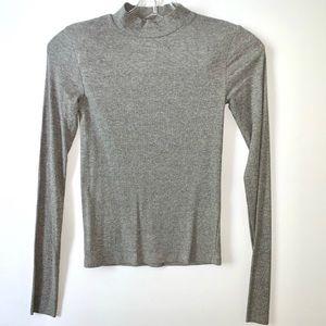 NWT | ZARA Grey Sweater Mock-Neck Ribbed